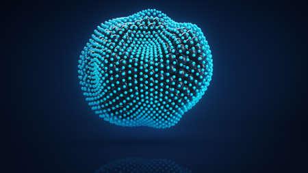 deformed: Deformed cluster of spheres. Computer generated abstract 3D render