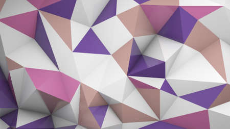 deformed: Polygonal surface chaotic deformed. Abstract geometric background. 3D render illustration Stock Photo
