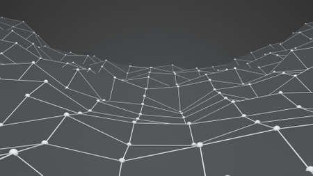 to pulsate: Chaotic grey shape. Abstract 3D rendering Stock Photo