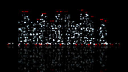 out of focus: out of focus lights of night city. computer generated abstract urban background