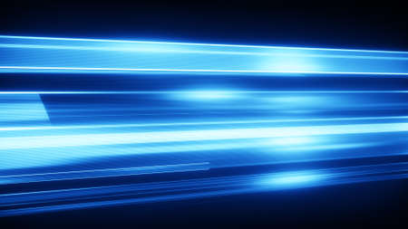 streaks of light: Blue light streaks with motion blur. Computer generated abstract modern background