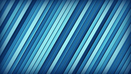 inclined: Blue extruded inclined lines. Geometric 3D render. Computer generated abstract background