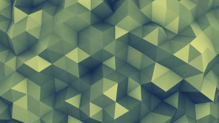 toned: Polygonal chaotic surface. Abstract toned background. 3D render illustration