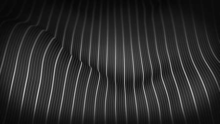 displace: Rippling striped surface. Abstract 3D render illustration Stock Photo