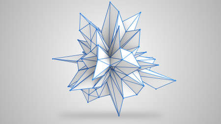 abstract shape: Abstract white shape. 3D render illustration