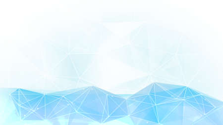 La luz de fondo azul polígono. Gráfico generado por ordenador Foto de archivo - 63577468