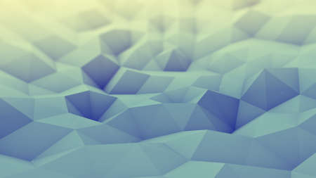 toned: Toned polygonal geometric background. Abstract 3D render with DOF