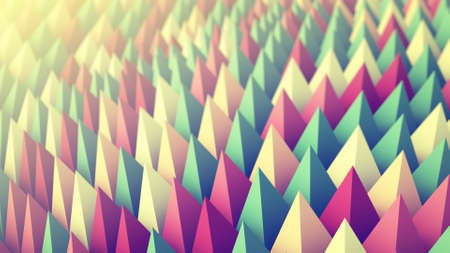 Colorful peaks. Abstract 3D rendering