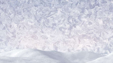 frosty: snowdrift and frost ornament abstract christmas background