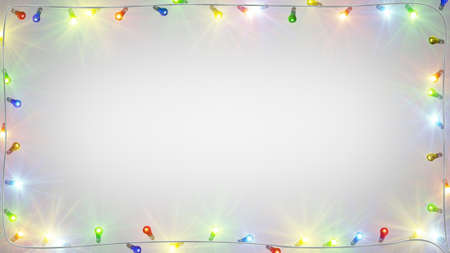 christmas light bulbs: christmas light bulbs frame. computer generated festive background Stock Photo