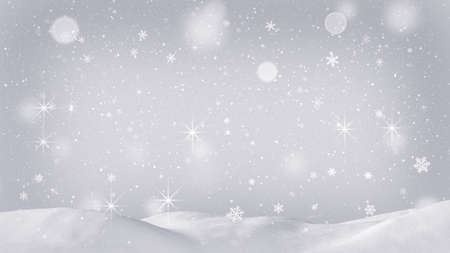 snow drift: beautiful snow drift and silver snowfall. Computer generated christmas background