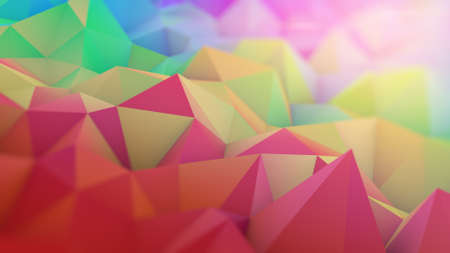 dof: Multicolor surface with shallow DOF. Abstract 3D render Stock Photo