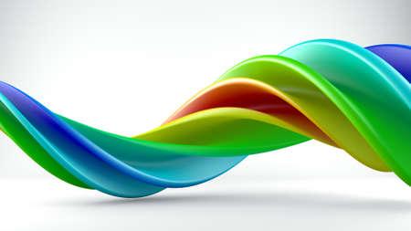forme geometrique: forme torsadée en studio. Générée par ordinateur géométrique abstrait rendu 3D