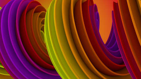 Twisted shape. Computer generated abstract 3D render illustration Stock Photo