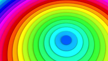 abstract rainbow: Rainbow spectrum concentric lines. Abstract background 3D illustration
