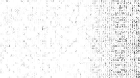 デジタル データを 16 進します。情報技術の概念。コンピューター生成抽象ラスター図