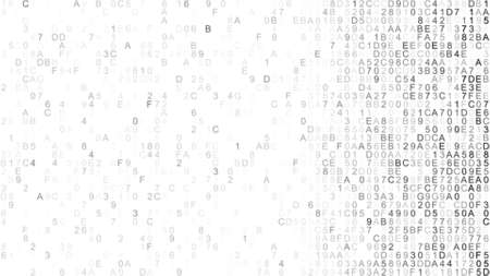 hexadecimal: Hex digital data. Information technology concept. Computer generated abstract raster illustration