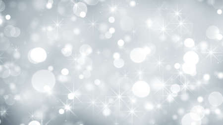 White holiday glitter lights and stars. Computer generated abstract background Imagens
