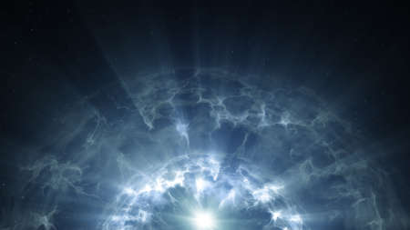 Plasma glowing surface. Computer generated abstrac futuristic background. 3D render illustration