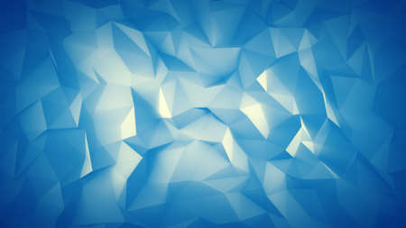 Cyan low poly surface. Abstract 3D render  Stock Photo