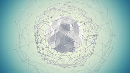 3d ball: Futuristic network shape. Abstract future technology concept. 3D render