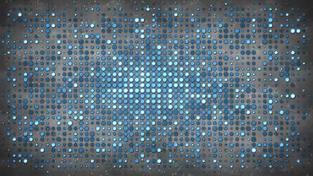 円の電球を点滅します。ディスコ パーティーやナイトクラブのコンセプトです。コンピューターで生成された absrtact 背景