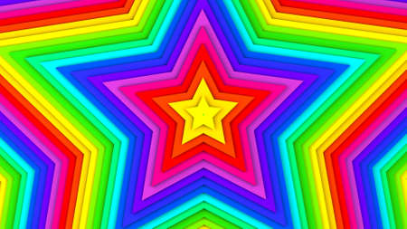 Multicolor stars. Abstract 3D render Stock Photo