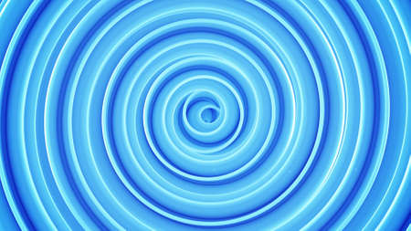 Blue spiral shape. Abstract 3D render