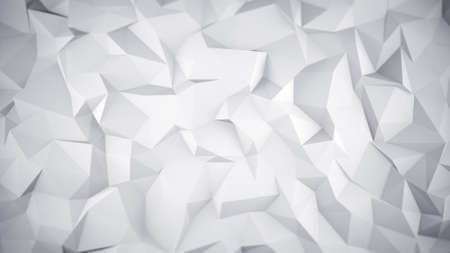 White low poly surface. Abstract 3D render