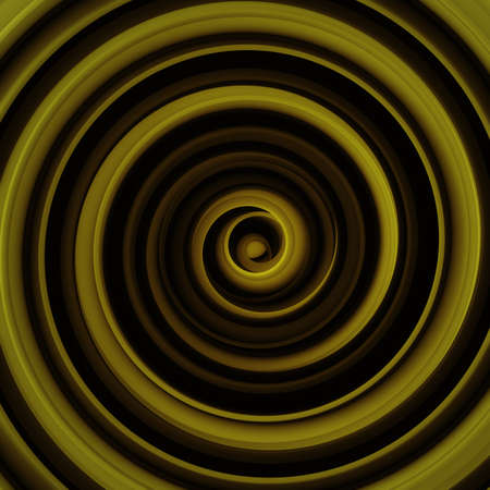 Black and yellow twisted shape. Computer designed abstract 3D rendering