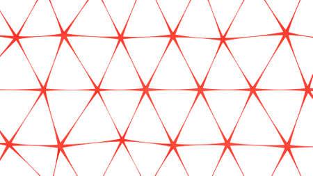 Red net shape. Abstract 3D render illusrtation