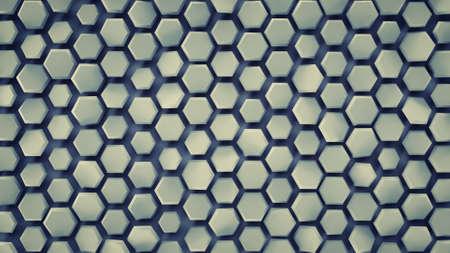 Hexagonal background. Computer generated abstract graphics. 3D render Reklamní fotografie