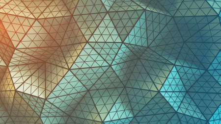 Polygonal geometric surface. Computer generated abstract background. 3D rendering Stock Photo