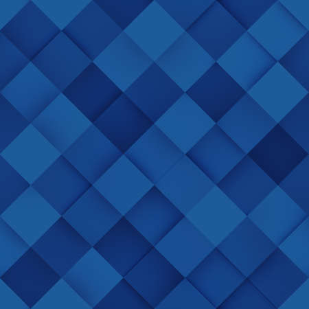 Seamless pattern of blue rhombs. Abstract geometric pattern. Computer generated tileable background. 3D render illustration Stock Photo