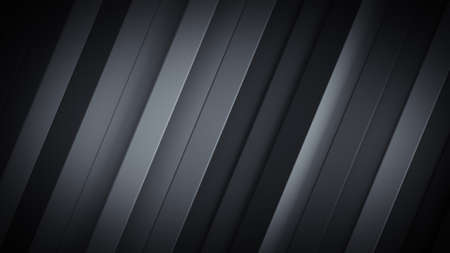 Dark gray background with diagonal stripes. Abstract computer graphic. 3D rendering