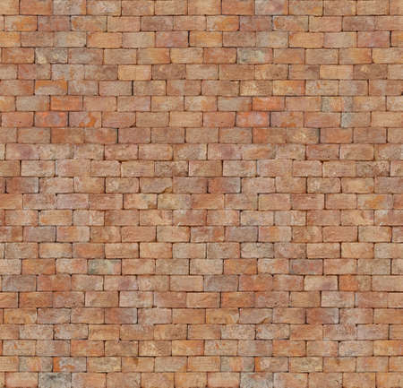 Seamless texture of red brick wall. Abstract architectural grunge background. Tileable pattern