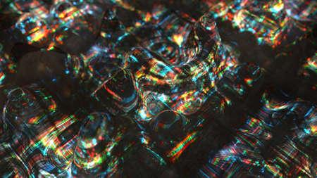 Flickering waves with glitch effect. Big data error concept. 3D rendering Stok Fotoğraf
