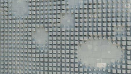 Grunge cubes on wall. Abstract 3D render illustration Foto de archivo - 127911658