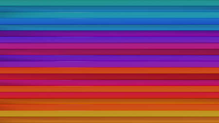 Bright colorful horicontal lines abstract. Computer generated abstract background. 3D render Foto de archivo - 127911666