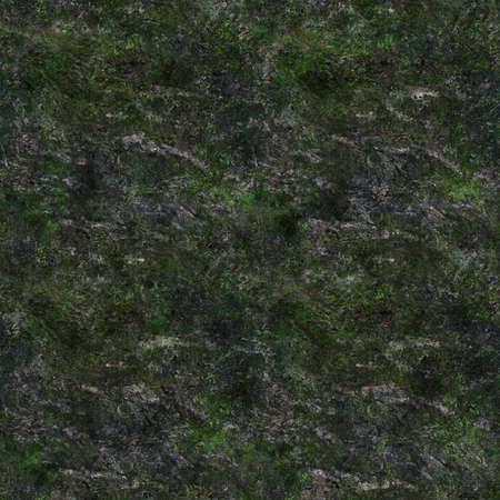 Seamless texture of mossy stone. Abstract tileable background