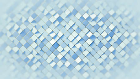 White rhomb mosaic surface. Computer generated abstract background. 3D render Foto de archivo - 128177089