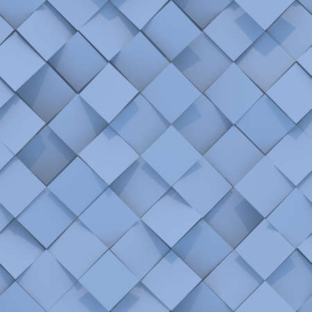 Seamless pattern of blue rhombs. Abstract geometric pattern. Computer generated tileable background. 3D render illustration Фото со стока