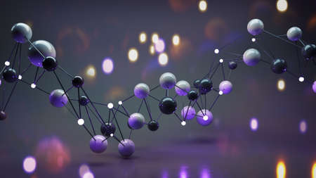 Twisted network mesh. Abstract science fiction graphics. 3D render Stock Photo