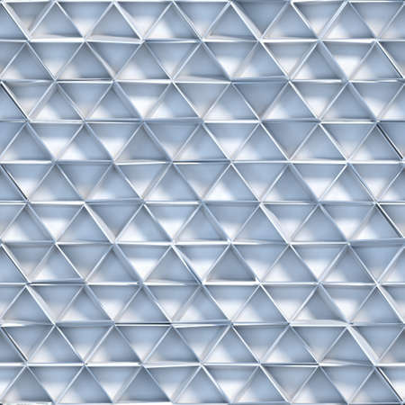Seamless pattern of white triangles. Abstract geometric tileable background. 3D render illustration