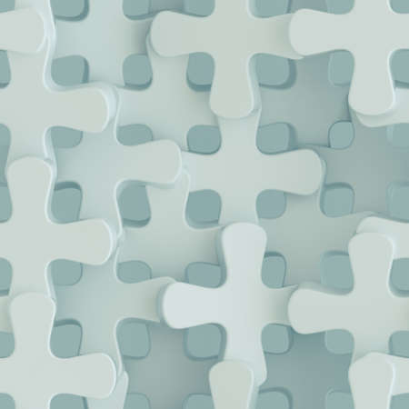 Seamless texture of crosses. Abstract tileable pattern. 3D render Standard-Bild