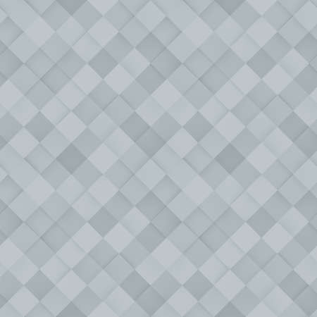 White seamless tileable pattern of rhombs. Computer generated abstract background. 3D render illustration Standard-Bild