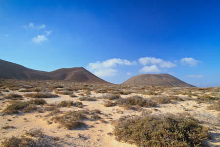 Landscape near La Caleta del Sebo, the only small village in the island of La Graciosa, near Lanzarote, Canary Islands, Spain. One of the most untouched in the archipielago.
