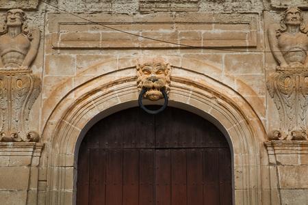 Beautiful door in the port of Ciutadella, Menorca, Spain