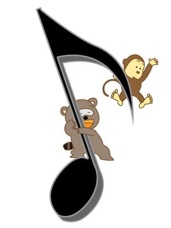 楽しい音楽  イラスト・ベクター素材