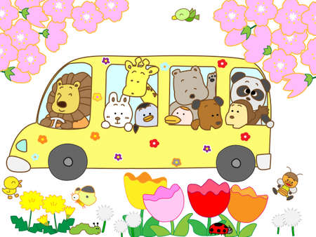 Picnic of spring Vector